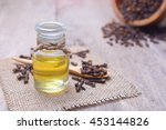 essential aroma clove oil in a... | Shutterstock . vector #453144826