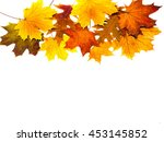 pattern of autumn colorful... | Shutterstock . vector #453145852