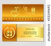 gift voucher. vector ... | Shutterstock .eps vector #453149692