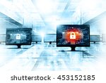 secure network background | Shutterstock . vector #453152185