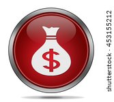 money bag icon. 3d illustration