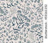 seamless vector floral pattern  ... | Shutterstock .eps vector #453161152