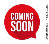 coming soon label vector red... | Shutterstock .eps vector #453162688
