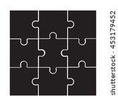 illustration of black puzzle...