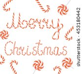 vector christmas card with... | Shutterstock .eps vector #453180442