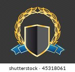 shield with ribbons and laurels | Shutterstock .eps vector #45318061