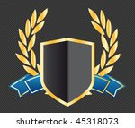 shield with ribbons and laurels | Shutterstock .eps vector #45318073