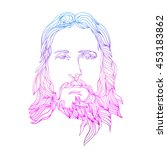 Graphical Color Face Of Jesus....
