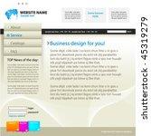 web site design template ... | Shutterstock .eps vector #45319279