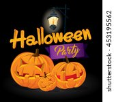 halloween party invitation... | Shutterstock .eps vector #453195562