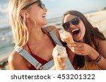 two best friends having ice... | Shutterstock . vector #453201322