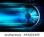 dark blue cyber light abstract... | Shutterstock . vector #453201445