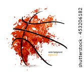 abstract background  basketball ... | Shutterstock .eps vector #453206182