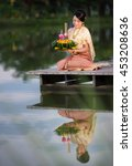 loy krathong traditional...   Shutterstock . vector #453208636