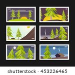 forest postage stamps... | Shutterstock .eps vector #453226465