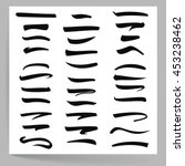 black underline  underline... | Shutterstock .eps vector #453238462