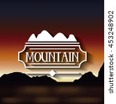 mountain frame with blur... | Shutterstock .eps vector #453248902