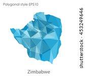 republic of zimbabwe map in... | Shutterstock .eps vector #453249646