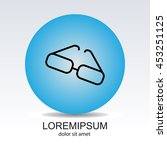 web lint icon. glasses | Shutterstock .eps vector #453251125