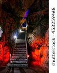 Illuminated St Michael's Cave ...