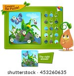 visual game for children and... | Shutterstock .eps vector #453260635
