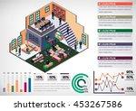 illustration of info graphic... | Shutterstock .eps vector #453267586