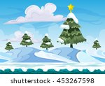 seamless cartoon vector snow...