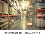blurred image of shelf in... | Shutterstock . vector #453269746