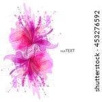 fantasy watercolor vector... | Shutterstock .eps vector #453276592