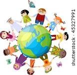 children of the world | Shutterstock .eps vector #45327991