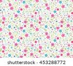 vector seamless pattern. cute... | Shutterstock .eps vector #453288772
