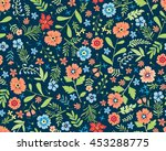 vector seamless pattern. cute... | Shutterstock .eps vector #453288775