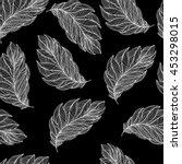 the feather of a bird. seamless ... | Shutterstock .eps vector #453298015