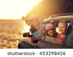mother with two kids travel by... | Shutterstock . vector #453298426