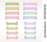 set of colored vector ribbons... | Shutterstock .eps vector #453302656