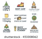 camping logo design set with... | Shutterstock .eps vector #453308062