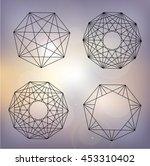 geometric abstraction  mandala | Shutterstock .eps vector #453310402