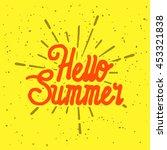 summer vector illustration... | Shutterstock .eps vector #453321838