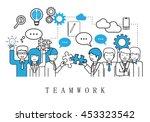 teamwork  people team   on... | Shutterstock .eps vector #453323542