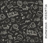 welcome back to school seamless ... | Shutterstock .eps vector #453329716