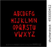 alphabet   number   handwriting ...   Shutterstock .eps vector #453333412