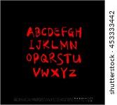 alphabet   number   handwriting ... | Shutterstock .eps vector #453333442