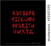 alphabet   number   handwriting ... | Shutterstock .eps vector #453337255