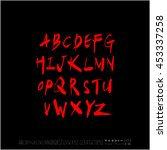 alphabet   number   handwriting ... | Shutterstock .eps vector #453337258