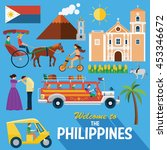 illustration of the philippines'... | Shutterstock .eps vector #453346672