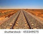 indian pacific railway across... | Shutterstock . vector #453349075