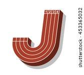 sport font  letter j  running... | Shutterstock .eps vector #453365032