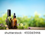 mint essential oil in small... | Shutterstock . vector #453365446