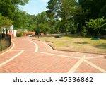 grand promenade brick path   Shutterstock . vector #45336862