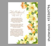 vintage delicate invitation...   Shutterstock .eps vector #453369796